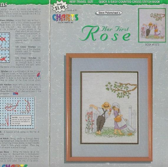 Cross Stitch Pattern Vintage Counted Needlework Color Charts Etsy