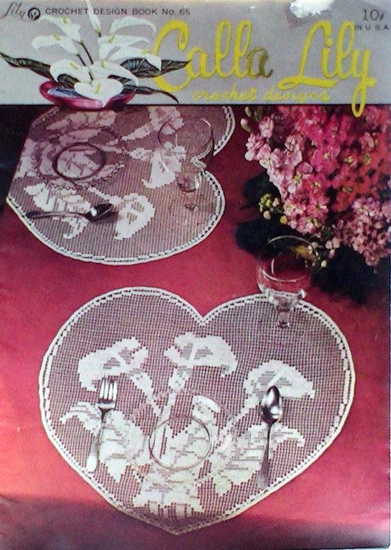 Calla-Lilien häkeln Muster Vintage Broschüre Mid Century   Etsy