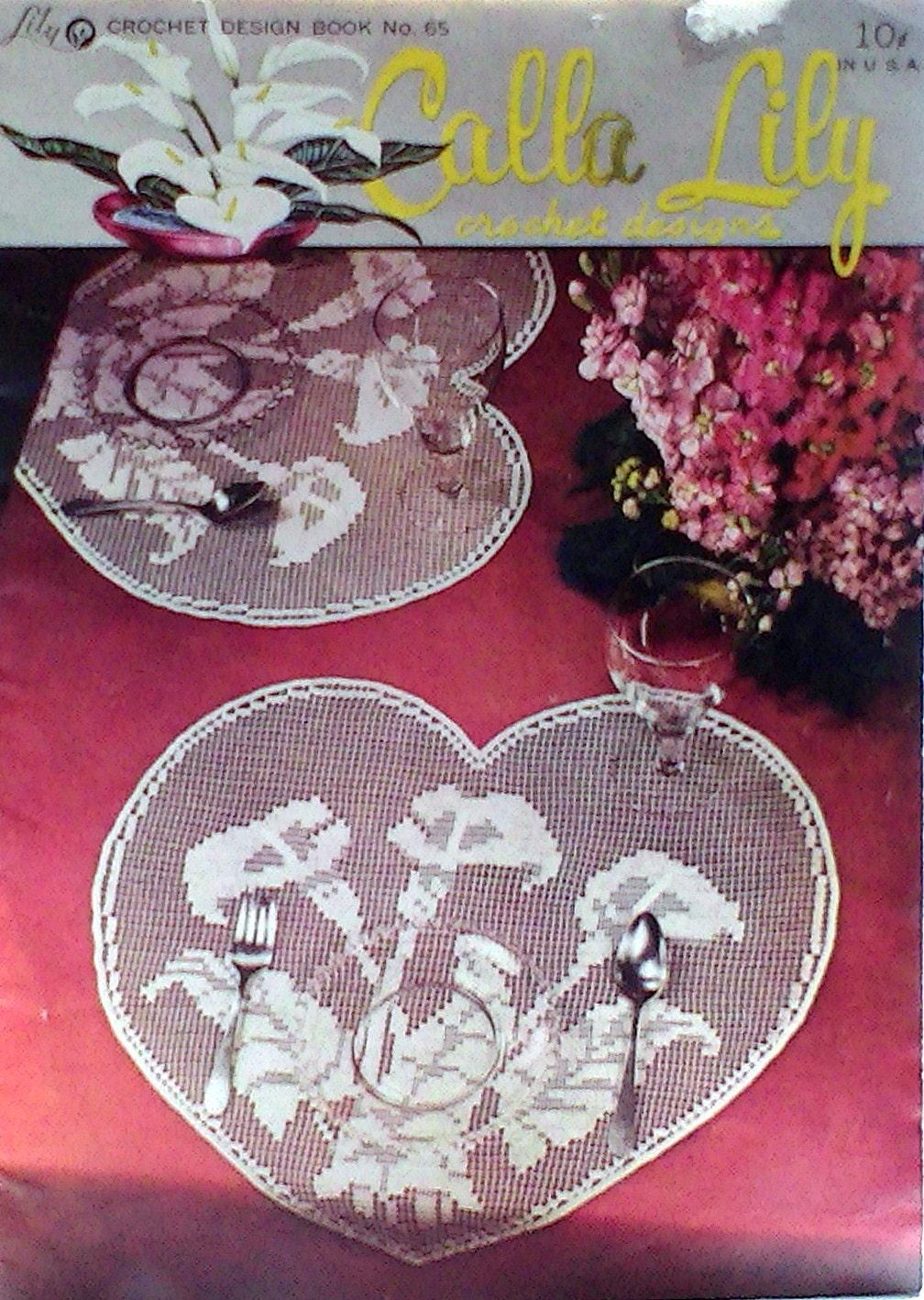 Vintage Crochet Booklet Tischdecken Servietten Tischsets | Etsy