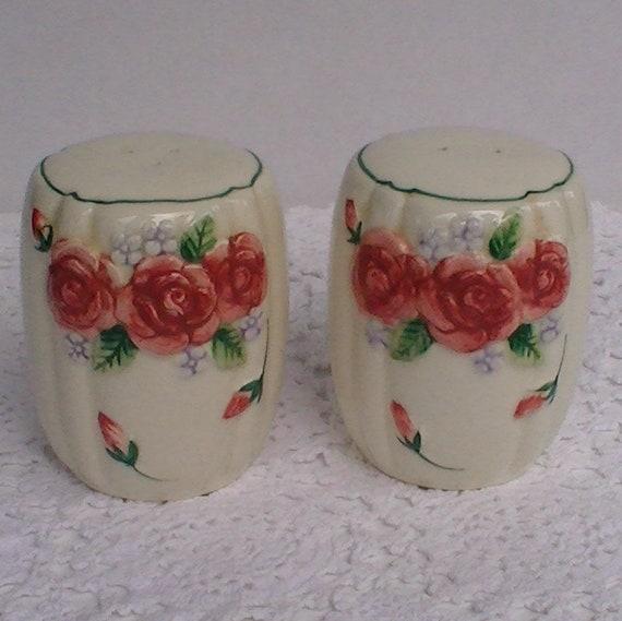 Mary Ann Baker Otagir Hand Painted Raised Flowers Teapot