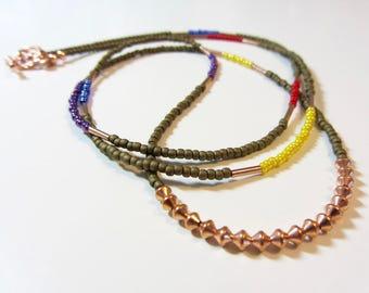 Rainbow Bohemian Necklace