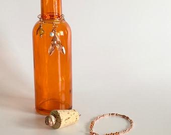 MERMAID Morse Code Bracelet in a Glass Bottle