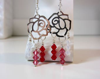 Paint the White Roses Red Earrings
