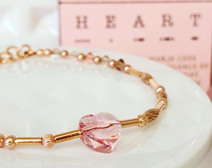 Featured listing image: HEART Morse Code Bracelet