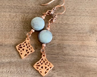 Celtic Knot Mother of Pearl Earrings