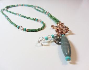Green Peacock Necklace