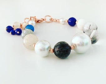 Chunky Glass Bracelet of the Ocean