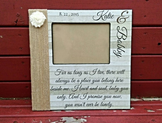 Personalized Song Lyric Picture Frame | Wedding Song Picture Frame ...