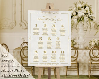 printable wedding table seating chart template gatsby 1920s etsy