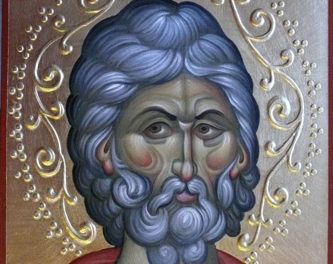Saint Menas, the Great Martyr, of Egypt, on Horseback - Byzantine Icon, hand painted orthodox icon, sacred icons, icon writing, iconography