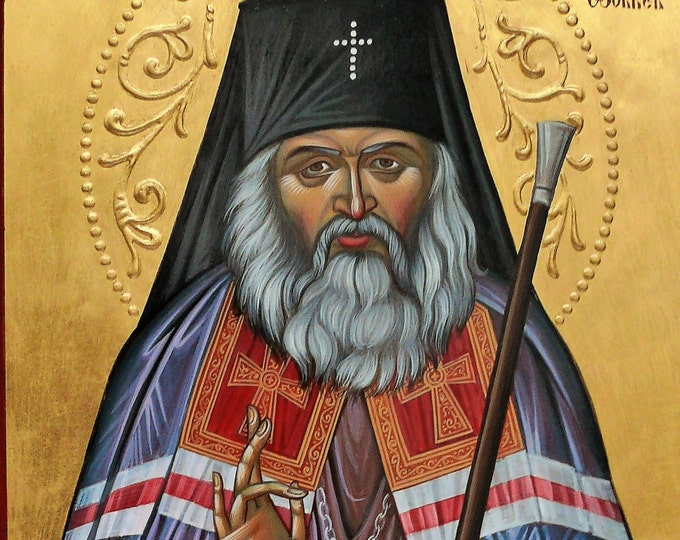 St. John Maximovitch icon, Holy Hierarch St. John of Shanghai and San Francisco, hand painted icon