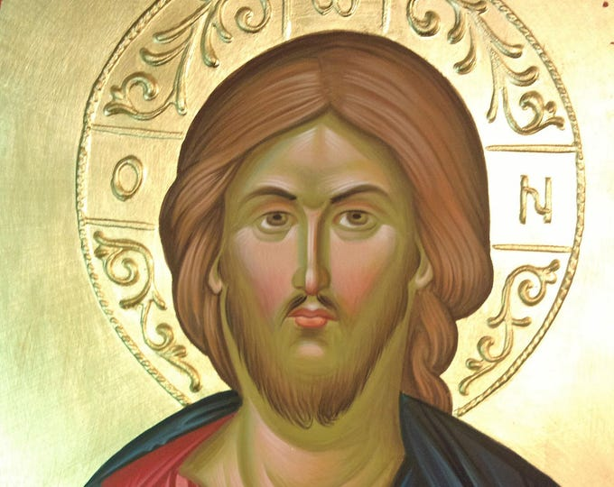 Icon of the Lord Jesus Christ, hand painted, orthodox icon, byzantine iconography, christian icon, orthodox gift, religious gift