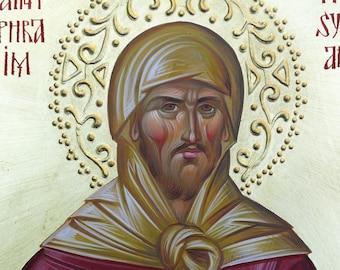 St. Ephraim the Syrian (Kontoglou) Orthodox Icon, Byzantine icon, orthodox gift, christian art,  religious icon