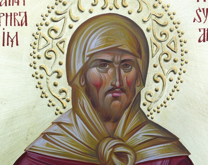 St. Ephraim the Syrian (Kontoglou) Orthodox Icon, Byzantine icon, orthodox gift, christian art,  religious icon