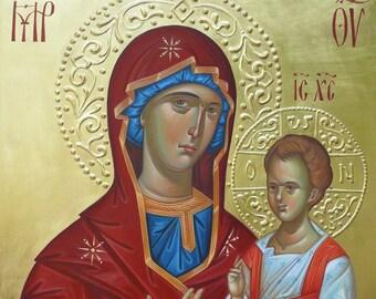 Odigitria (Hodegetria), icon of the Mother of God (Guide),Byzantine Icon Theotokos, Holy Virgin Mary, The icon of the Mother of God