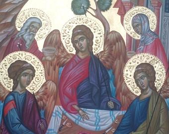 Old Testament Trinity, The Hospitality of Abraham, Orthodox Christian Icon at Holy Trinity