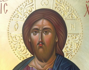 Jesus Christ the Saviour, Blessing Pantocrator, Byzantine Icon Painting, christian, orthodox icon iconography, Icon orders