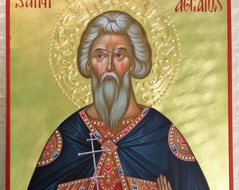 St. Aglaius icon orthodox, hand painted, Martyr Aglaius of the Holy 40 Martyrs of Sebaste, Byzantine icon, iconography