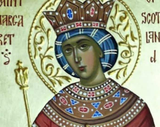 St. Margaret of Scotland icon, saint art, religious icon, hand painted, orthodox icon, Byzantine icon, iconography,