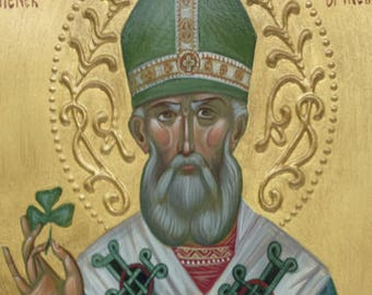 St. Patrick the Bishop of Armagh and Enlightener of Ireland - Troparion & Kontakion, iconography