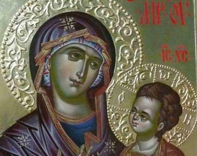 Holy Theotokos of Iveron, Hodegetria, Iveron icon of Mother of God, Orthodox icon, Mother of God, hand painted icon,  iconography