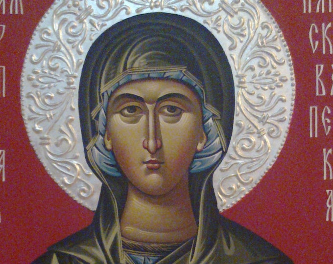 St. Paraskeva, St. Petka, Orthodox icon, hand painted, religious icon, orthodox gift, iconography, Byzantine icon, orthodox icon for sale