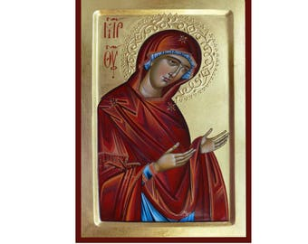 Theotokos Deesis,Icon of the Mother of God, Byzantine art, orthodox gift, religious icons