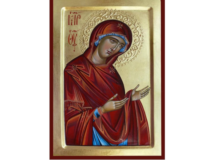 Theotokos Deesis,Icon of the Mother of God, Byzantine art, orthodox gift, religious icons