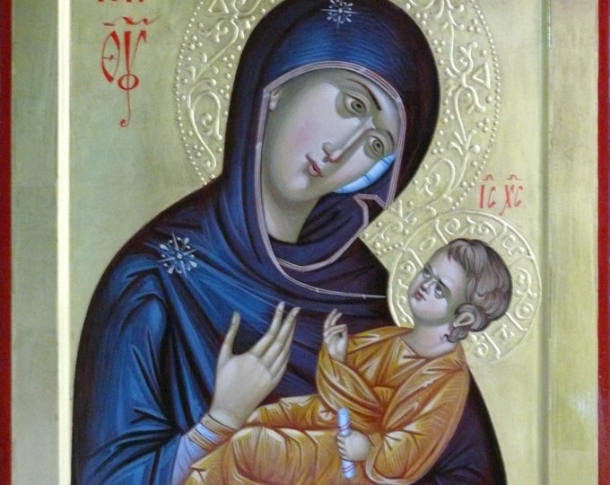 Our Lady Aristokratusa, Theotokos Hodеgеtria, Orthodox Icons, Mother Mary, Holy Mother, religious icon, icons for sale, Iconography
