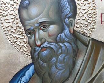 Saint John the Theologian, Evangelist, bible painting, orthodox icon, Byzantine icon, iconography, Greek icon, christian icon, religious art
