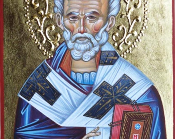 Icon of St. Nicholas, St. Nicholas the Wonderworker,  Byzantine icon, orthodox icon, orthodox gift