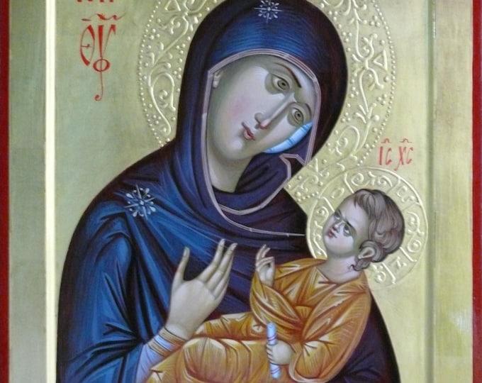 Our Lady Aristokratusa, Theotokos Hodеgеtria, Orthodox Icons, Mother Mary, Holy Mother, religious icon, icons for sale, Iconography