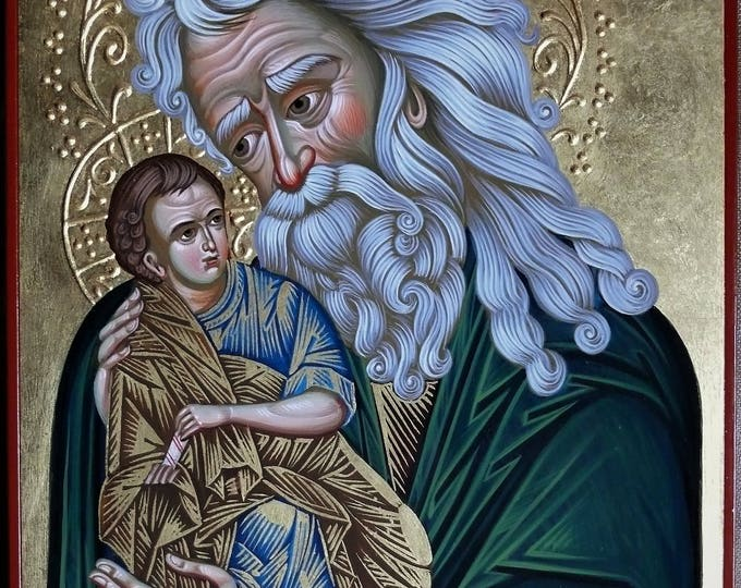 Saint Simeon the God receiver Icon, iconography,  Simeon the God-Receiver orthodox icon, byzantine icon