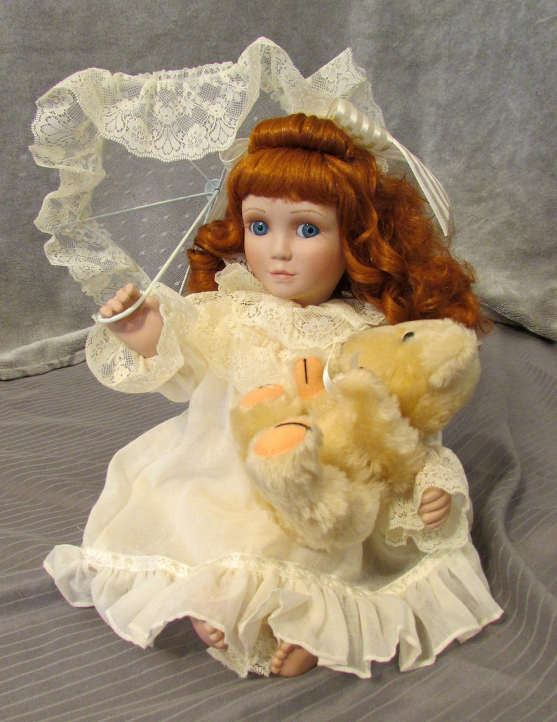 Colleen by Ashton Drake, vintage porcelain collectible doll