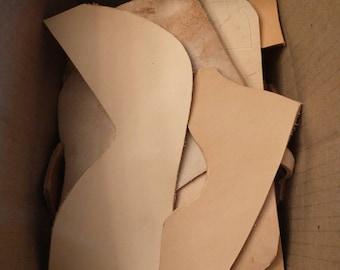 4lb Box 8oz Leather Remnants - Oak