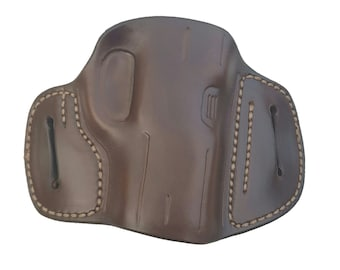SIG P250 Sub Compact Leather Holster, Susquehanna High Ride Holster, Brown, Right Hand