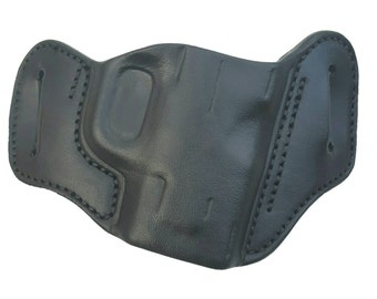 Swatara Mid Ride Leather Holster for Springfield Mod2 Sub-Compact, Black, Right Hand