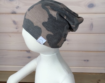 5360bb1128bb7a Items similar to Reversible Camo Slouchy Beanie, Slouchy Hat, Slouch ...