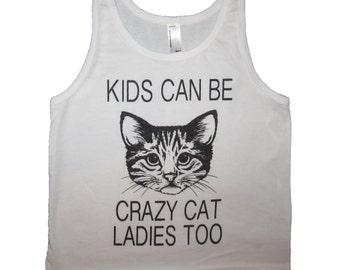 Crazy Cat Unicorn Rainbow Funny Men Women Unisex T Shirt Tank Top Vest 1288