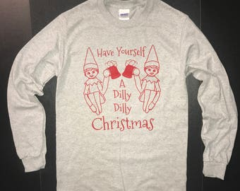 more colours long sleeve have yourself a dilly dilly christmas t shirt