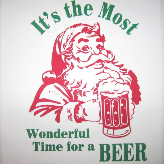 red sleeve the most wonderful time for a beer christmas t shirt funny xmas tee