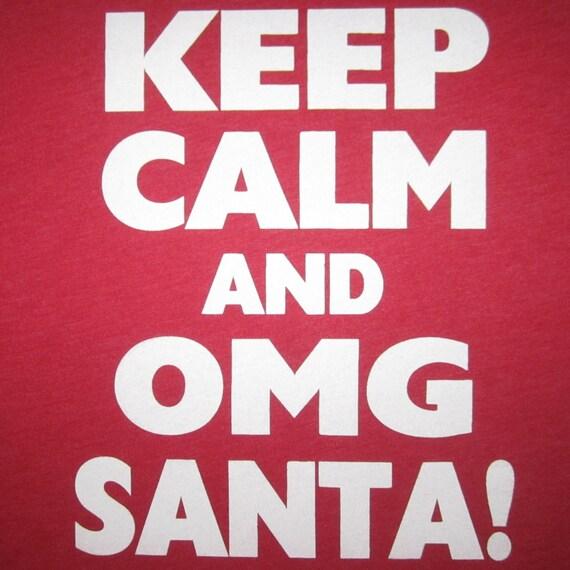 Keep Calm Christmas.Mens Keep Calm And Omg Santa Funny Ugly Christmas Sweater T Shirt Tee Cute Secret Santa Gift Present Idea Holiday Party Xmas Claus Awesome