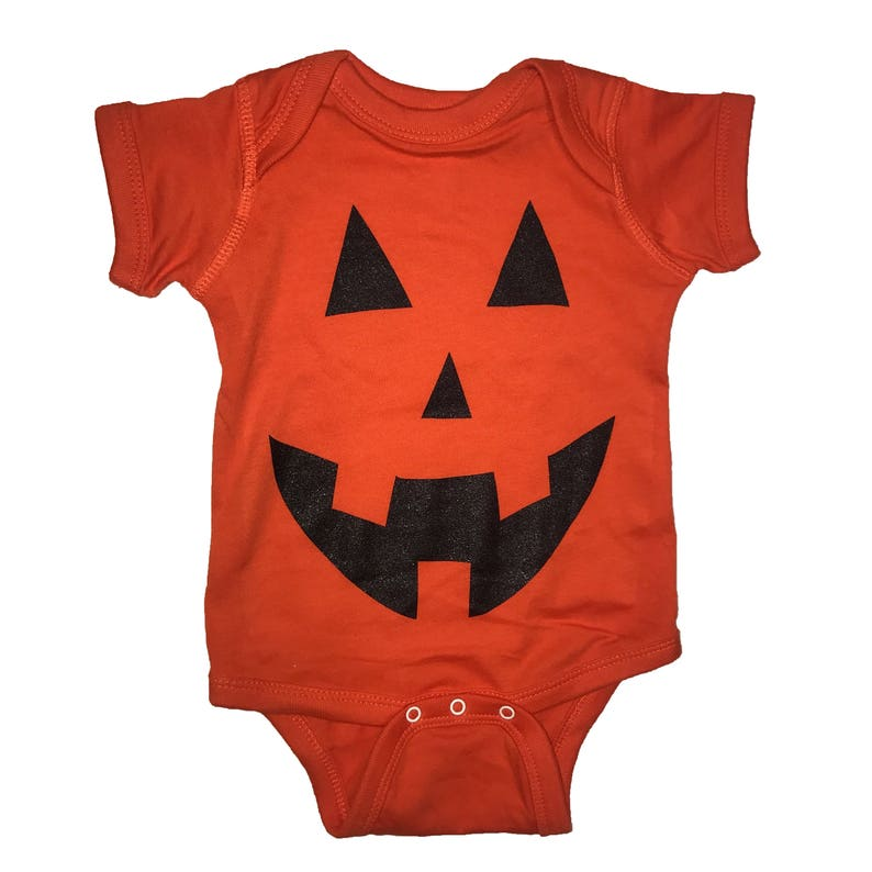 2ec358f296c One piece pumpkin carving face carved halloween baby infant