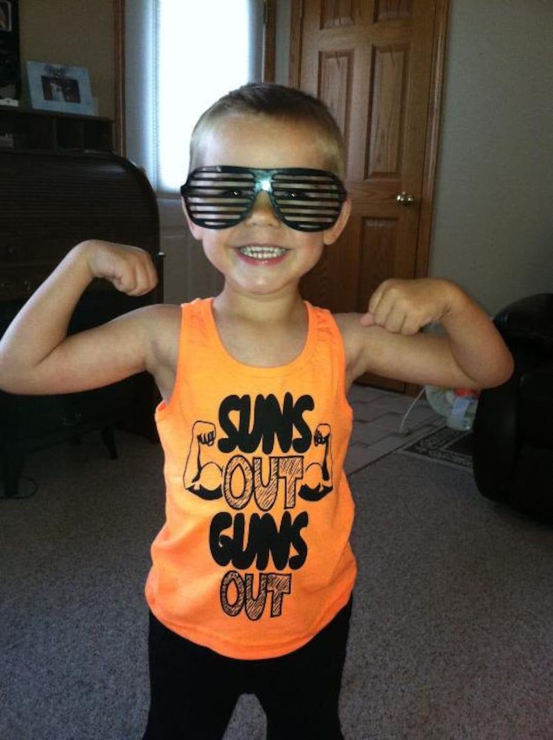 Suns Out Guns Out Kids T-Shirt