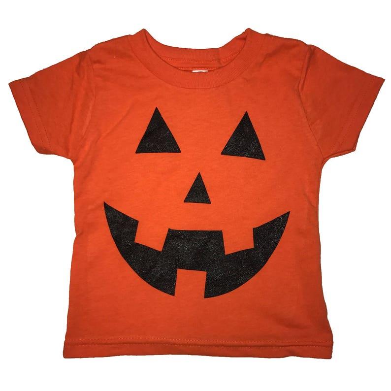 c1012b51482 Pumpkin carving face t shirt halloween baby infant tee shirt