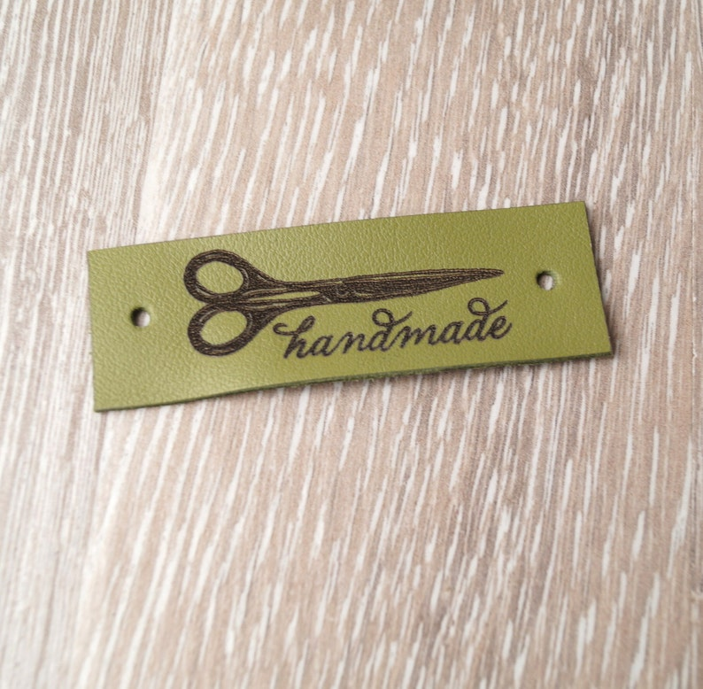 custom label tags care labels personalized labels labels for knitted products Leather clothing labels set of 25 handmade custom labels