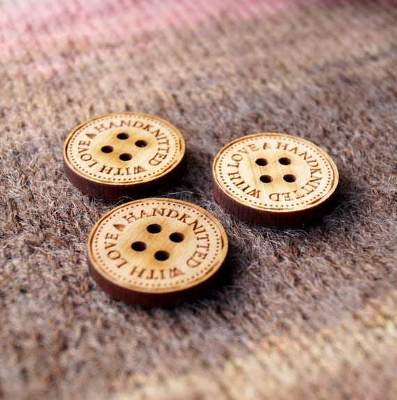Personalised 20mm Buttons WoodenCustom Birch Wood ButtonsAdd any text,