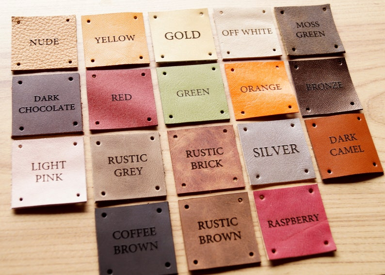 your logo leather labels set of 25 Leather labels personalized labels for knitted products custom labels custom label tags care labels