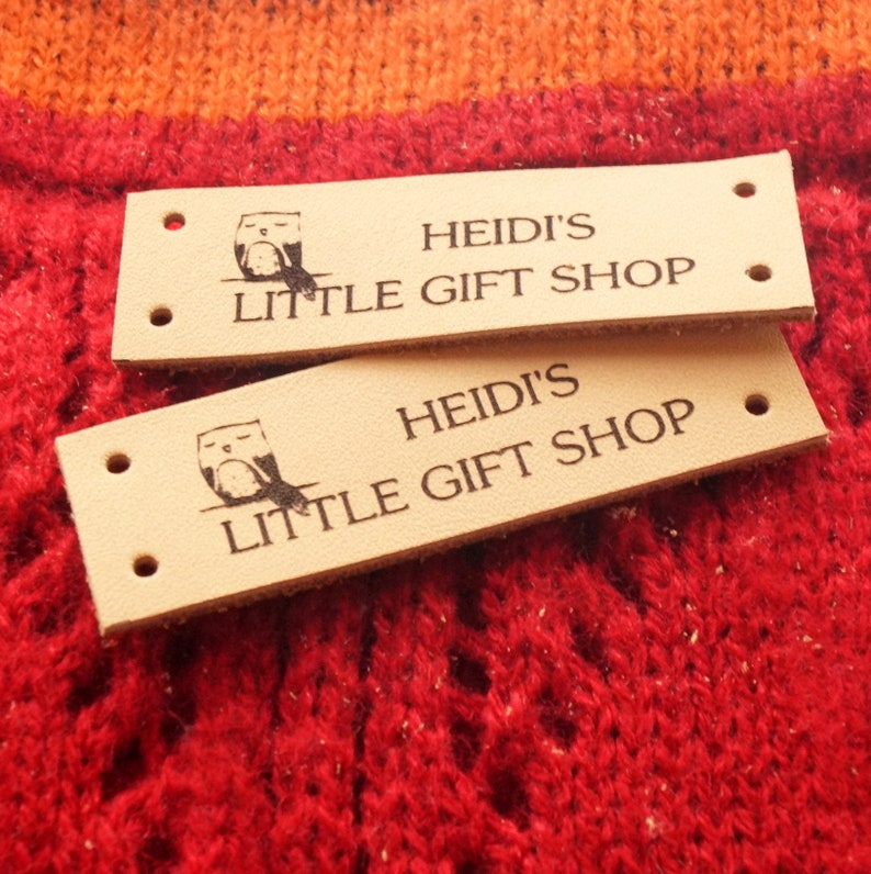 Labels For Handmade Items Leather Labels Crochet Etsy