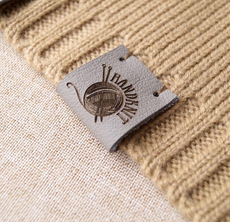Leather Labels For Crochet Labels For Knitting Custom Etsy